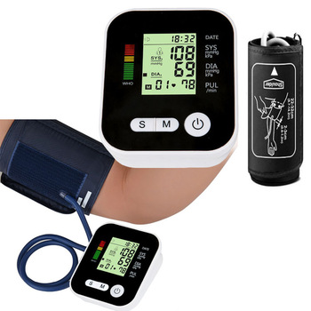 Home Health Care  Automatic Digital Lcd Upper Arm Blood Pressure Meter Heart Beat cuff Monitor Machine Tonometer for Measuring 1