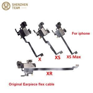 Image 2 - SZteam earpiece flex cable for iPhone X XS MAX XR 11 11pro 11promax original pulled Original Earpiece Replacement Parts