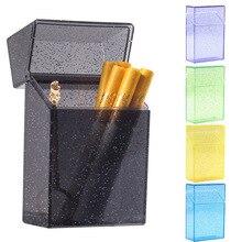 20 bâtons Portable en plastique paillettes étui à cigarettes boîte Transparent rouge à lèvres briquet stockage support de la boîte Muiticolor fumer outils