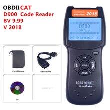 الاحدث وصل V2018 D900 canecast D900 الماسح العالمي OBD2 EOBD قارئ شفرة خطأ السيارة D 900 الاداة التشخيصية 2018 النسخة