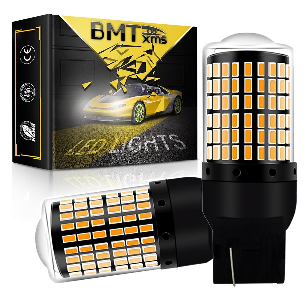 BMTxms 2Pcs T20 W21W 7440 7440NA LED Blinker Glühbirnen Canbus Keine Hyper Flash Fehler Freies Bernstein Gelb neue Super Helle