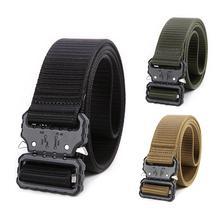 купить Outdoor Tactical Nylon Belt Hunting Belt Waist Belt Quick Release Buckle Camping Hunting Accessory Rectangular Waist Belt дешево