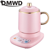 DMWD Mini Electric Thermal Kettle Ceramic Water Heating Cup Slow Cooker Health Pot Noodles Porridge Stew Baby Food Cooker Teapot