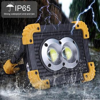 100w Super Bright Led Work Light Rechargeable for Outdoor Camping Lamp LED Flashlight by 18650 Inspection Light led work light portable spotlight 100w led work lamp rechargeable waterproof light for outdoor working camping 18650