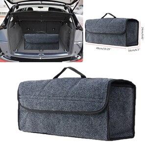 Image 2 - Car Trunk Organizer Soft Felt Storage Box Large Anti Slip Compartment Boot Storage Organizer Tool Bag Car Storage Bag