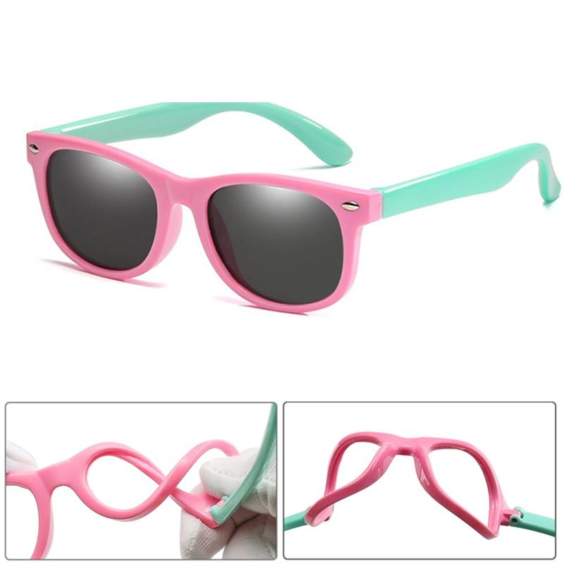 New Kids Polarized Sunglasses TR90 Boys Girls Sun Glasses Silicone Safety  Glasses Gift For Children Baby UV400 Eyewear