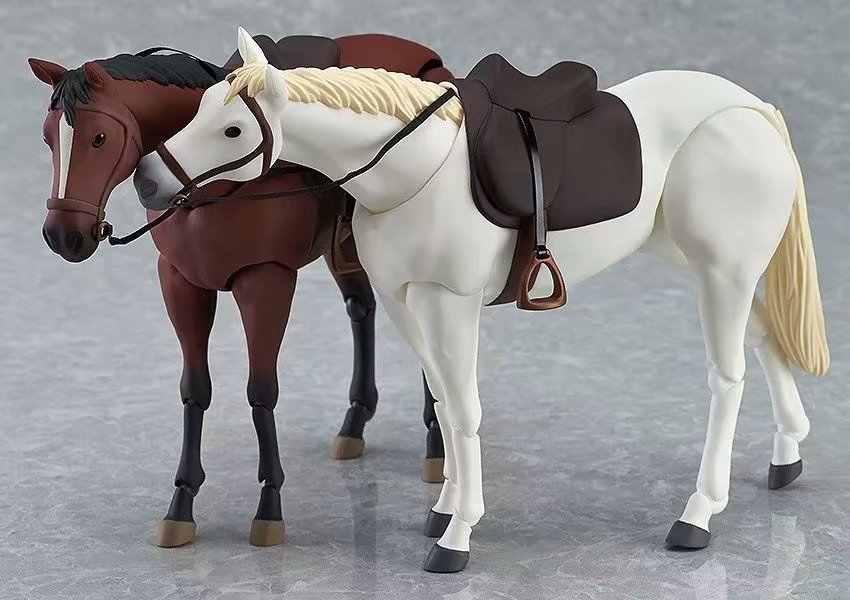 16 centímetros Figma 246A/246B figuras cavalo Corpo Anime Corpo original do cavalo Figura PVC modelo Coleção figuras para crianças brinquedos de presente 0.5