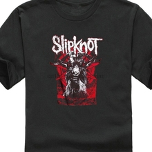 Vintage T Shirts Short Sleeve O-Neck Fashion 2019 Slipknot Iowa Goat Tee For Men Cotton T-Shirt Shirt Free Ship