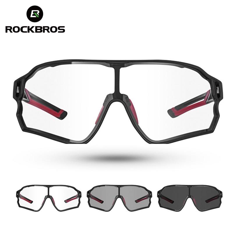 Gafas de sol para ciclismo ROCKBROS, gafas fotocromáticas para bicicleta de carretera UV400, gafas para ciclismo de montaña MTB