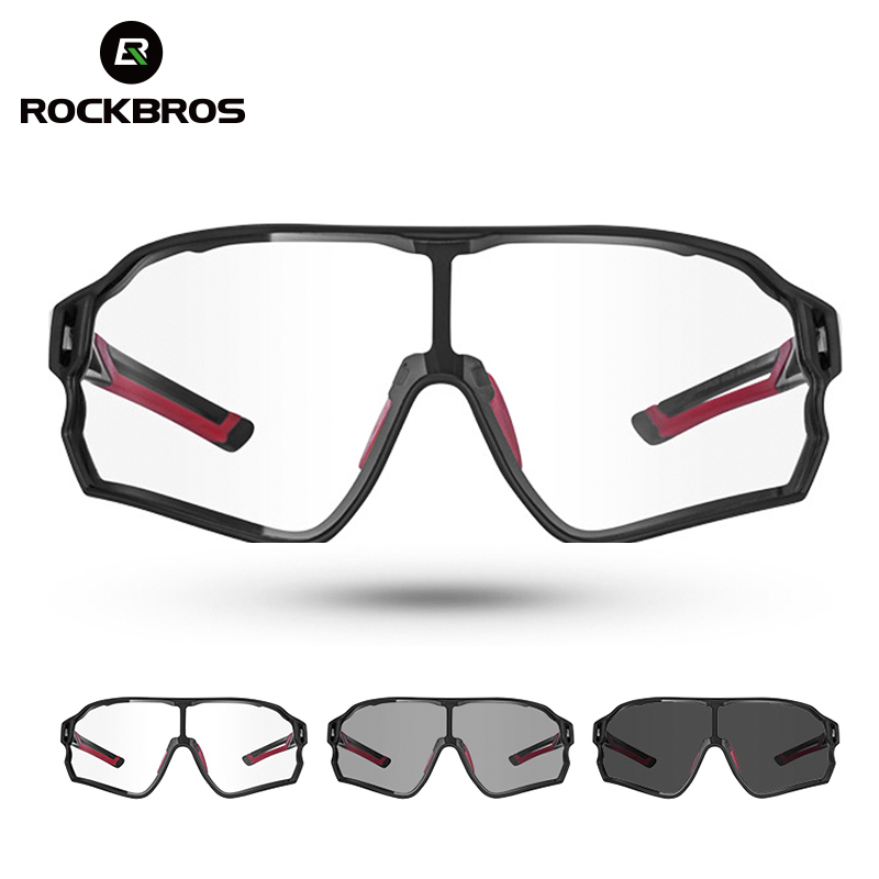 ROCKBROS Cycling Sunglasses  Photochromic Road Bike UV400 Bicycle Eyewear MTB Mountain Bicycle Cycling Goggles