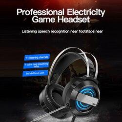 Новая проводная гарнитура, геймерские наушники для ПК, PS4, Xbox One, гарнитура 7,1 с объемным звуком и HD микрофоном, игровые Накладные наушники для...