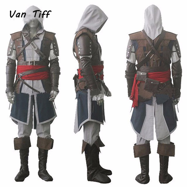 Cosplay Assassins Costume Edward Creed Black Flag Kenway Cosplay