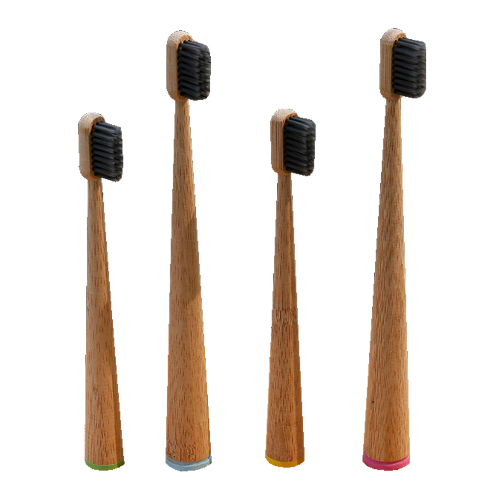 1pc Soft Bristles Toothbrush Big Cone Handle Eco Friendly Bamboo Oral Care Tooth Brush Ecologico Biodegradable Toothbrush image