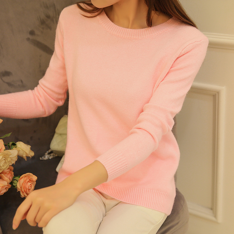 Autumn Spring Sweater Female Knitted Jersey Jumper Women Cashmere Pullover Tricot Pull Femme