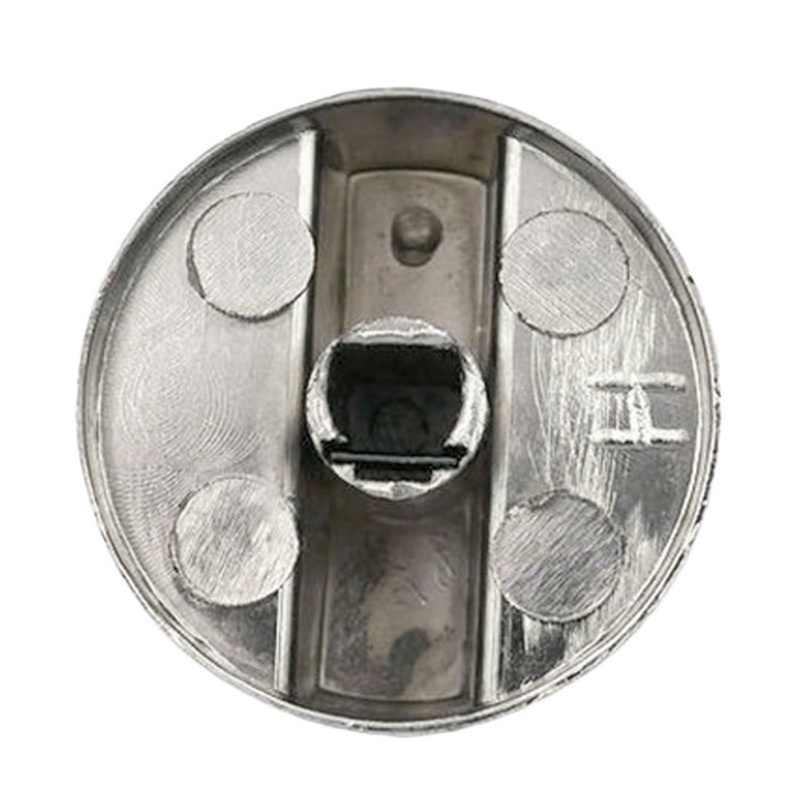 2 CHIẾC Bếp Kim Loại Bạc Gas Núm Bộ Điều Hợp Lò Nướng Công Tắc Bếp Gas Công Tắc Núm Bếp Bề Mặt Điều Khiển Ổ Khóa