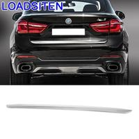 Car Automovil Auto Automobile Trunk Panels Rear Bumper Exterior Covers Decoration Modification Trim 15 16 17 FOR BMW X6 series|Chromium Styling| |  -