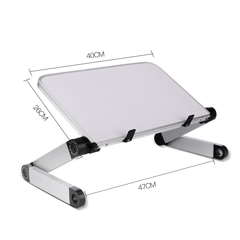 Image 5 - Portable Laptop Table Adjustable Notebook Stand Desk for Office Bed Folding Desk Adjust 360 Degree Laptop Computer Stand HolderLaptop Desks   -