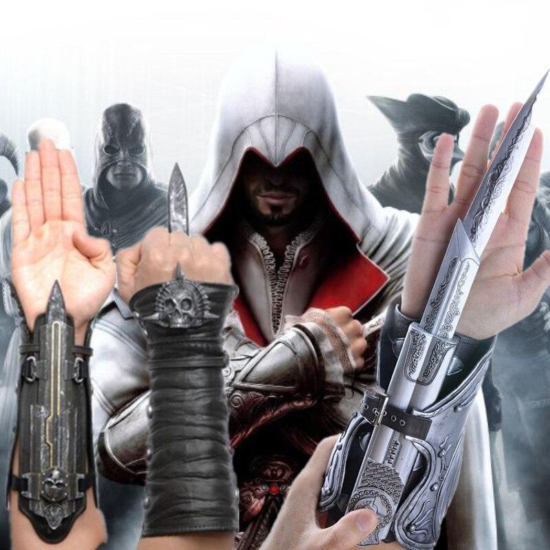 Juguetes modelo de juego Assassin Creed Ezio cofrariado banda LAMA bandera pirata hoja oculta réplica juguetes Modelo 1:1 pirata