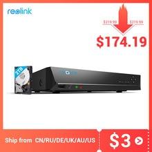 Reolink 8ch NVR Cho Reolink 4MP/5MP/4K Ip P2P Thu Âm Năm 24/7 H.264 Đầu Ghi Hình 2TB HDD RLN8 410