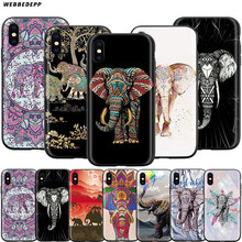 Webbedepp Indiano Elefante Animale Totem Caso per Il Iphone di Apple 11 Pro Xs Max Xr X 8 7 6 6S più di 5 5S Se(China)