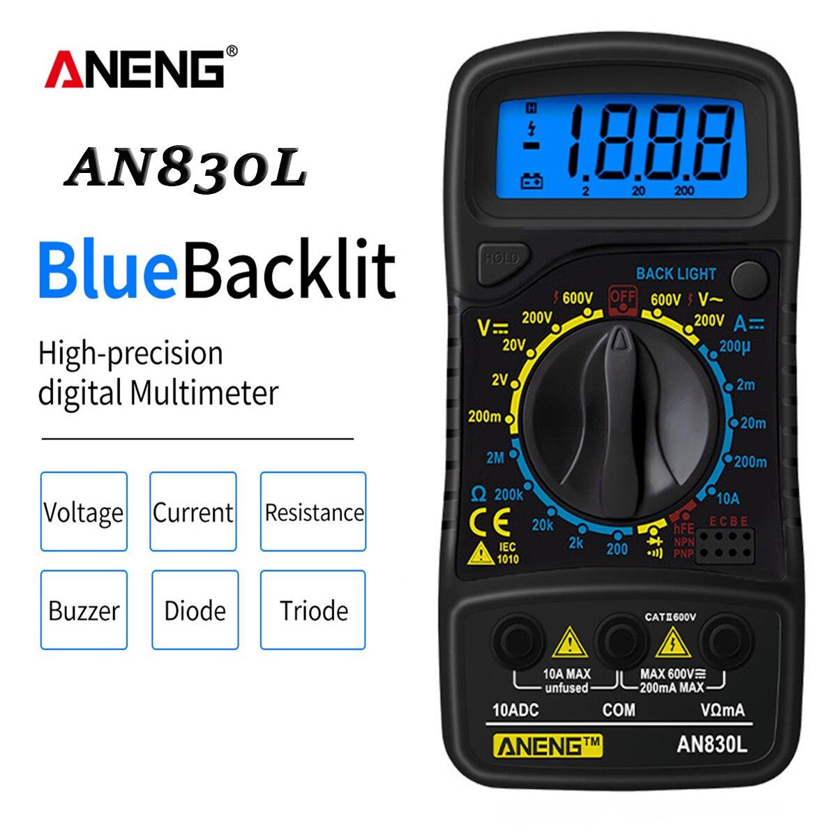 ANENG XL830L Digital Multimeter Esr/Lcr Meter Testers Automotive Electrical Dmm Transistor Pocket Tester Meter Capacitance Meter
