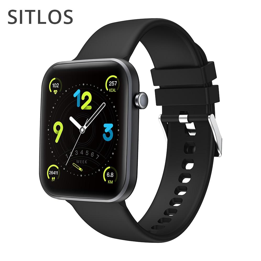 Sitlos p15 relógio inteligente 1.69 Polegada homens tela de toque completa ip67 à prova dip67 água mulher smartwatch 2021 para xiaomi ios android telefone
