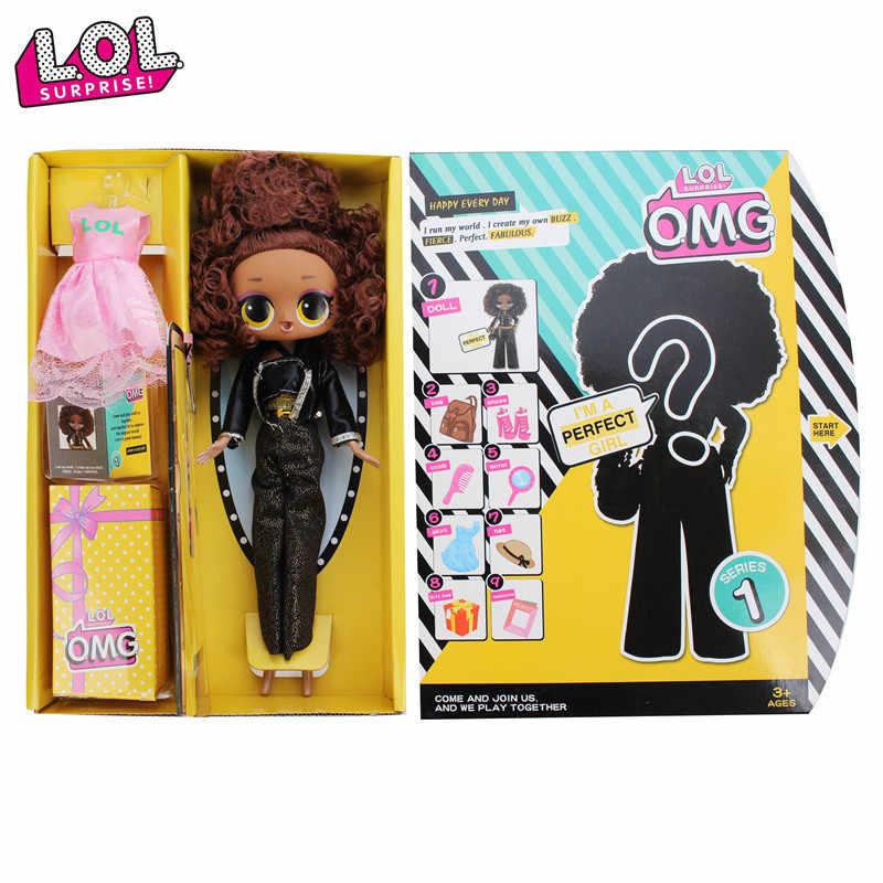 Оригинальные куклы LOL Surprise OMG, зимние куклы для дискотеки, куклы LOL, глухая коробка, игрушки для девочек, игрушки для игр, подарки для девочек, детские подарки