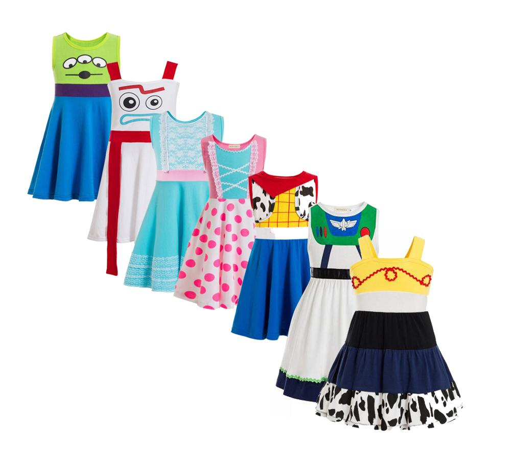 Женский костюм-туника Jessie костюм для малышей, платье на бретелях с принтом Базз, светильников, инопланетянин