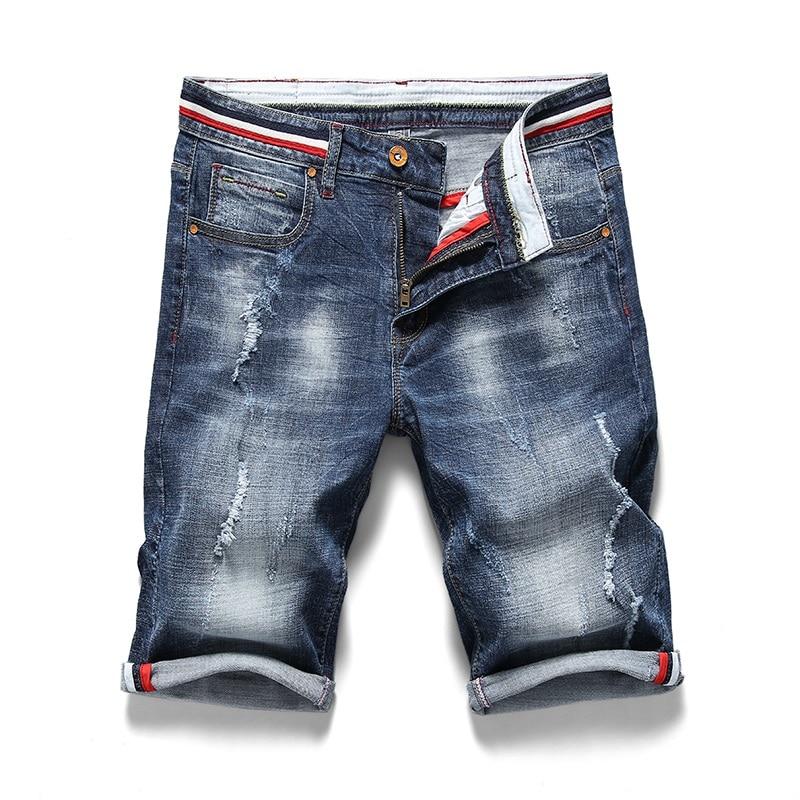 Shorts Men Ripped Short Jeans Designer Classic Fashion Straight Breeches New Summer Short Jean Bermuda Male Denim Brand Clothing
