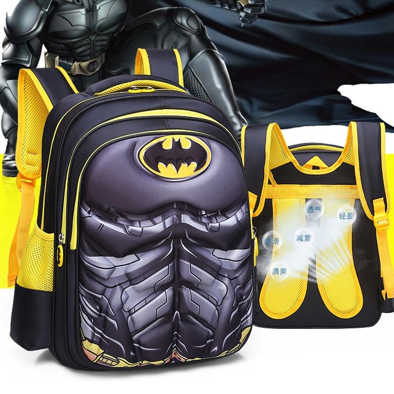 New Children School Bag Boys Girls Captain America Cartoon Kindergarten Schoolbags Kids Orthopedic Backpacks 4-13 Year