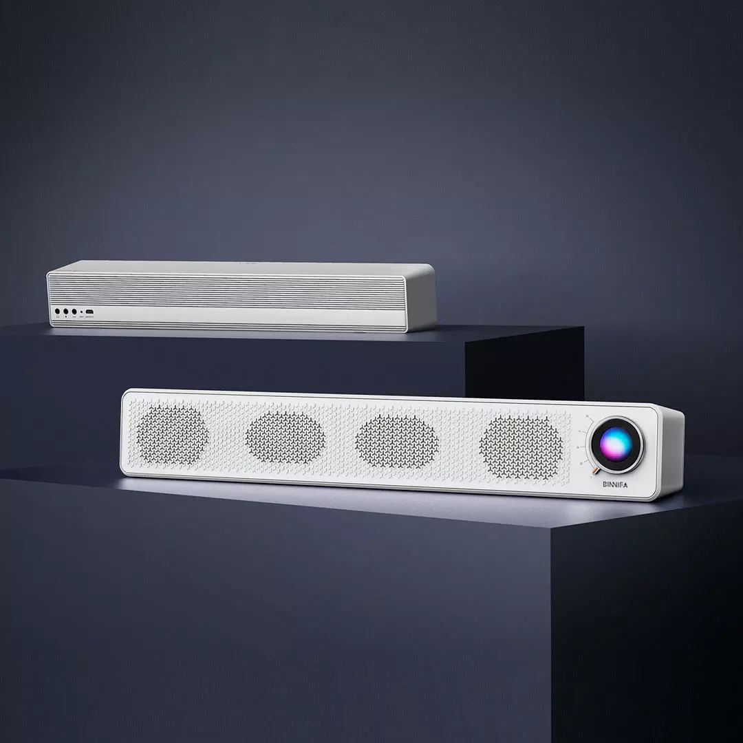Youpin BINNIFA Table Long Strip Bluetooth Speaker Double Horn Wireless Connection Computer Microphone TV PC Theater Soundbox