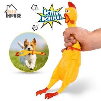 Snailhouse, лидер продаж 2019 года, кричащая курица, бриллиантовая игрушка со скрипящим звуком, забавная безопасная резиновая игрушка для собак, мо...