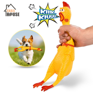 Snailhouse 2019 Hot Sell Screaming Chicken Pets Dog Toys Squeeze Squeaky Sound Funny Toy Safety Rubber For Dogs Molar Chew Toys(China)