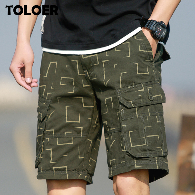 Cargo Shorts Men 2020 Summer Army Military Tactical Homme Shorts Casual Solid Multi-Pocket Male Cargo Tactical Shorts Plus Size