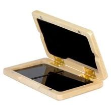 HK.LADE Nussbaum Holz Reed Fall Holz Halter Box für Tenor/Alto/Sopran Saxophon Klarinette Schilf, 2Pcs Kapazität