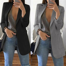 1pc Autumn Women Casual Long Sleeve Coat Suit Slim Cardigan Tops Blazer