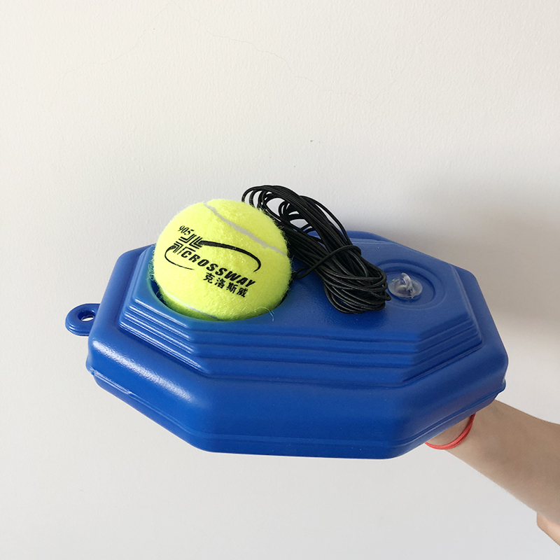 1 Set Heavy Duty Tennis Training Aids Tool With Ball Practice Self-Duty Rebound Trainer Partner Sparring Device Baseboard