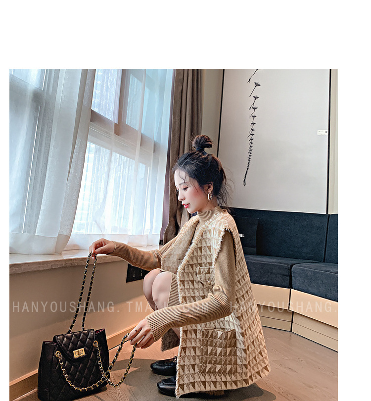 H06913e2659e64a03a2a80582c6ad55abx - Vintage Elegant Two Piece Sets Outfits Women Knitting Long Dress And Vest Suits Ladies Ins Style Autumn Winter 2 Pcs Sets