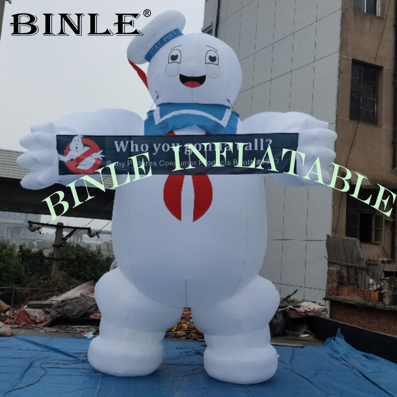 Hot sale 4m high halloweeen Ghostbusters Stay Puft Inflatable Marshmallow Man For Advertisement
