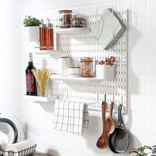 Wall Shelf Free Punch Accessories Hook Brush Holder Box Decoration Kitchen Toilet Bathroom Home Multifunctional Butler Storage
