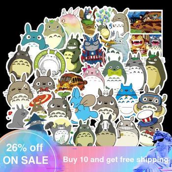 50PCS Waterproof Cartoon Totoro Spirited Away Girl Stickers Skateboard Suitcase Guitar Children Graffiti Sticker Kids Toy