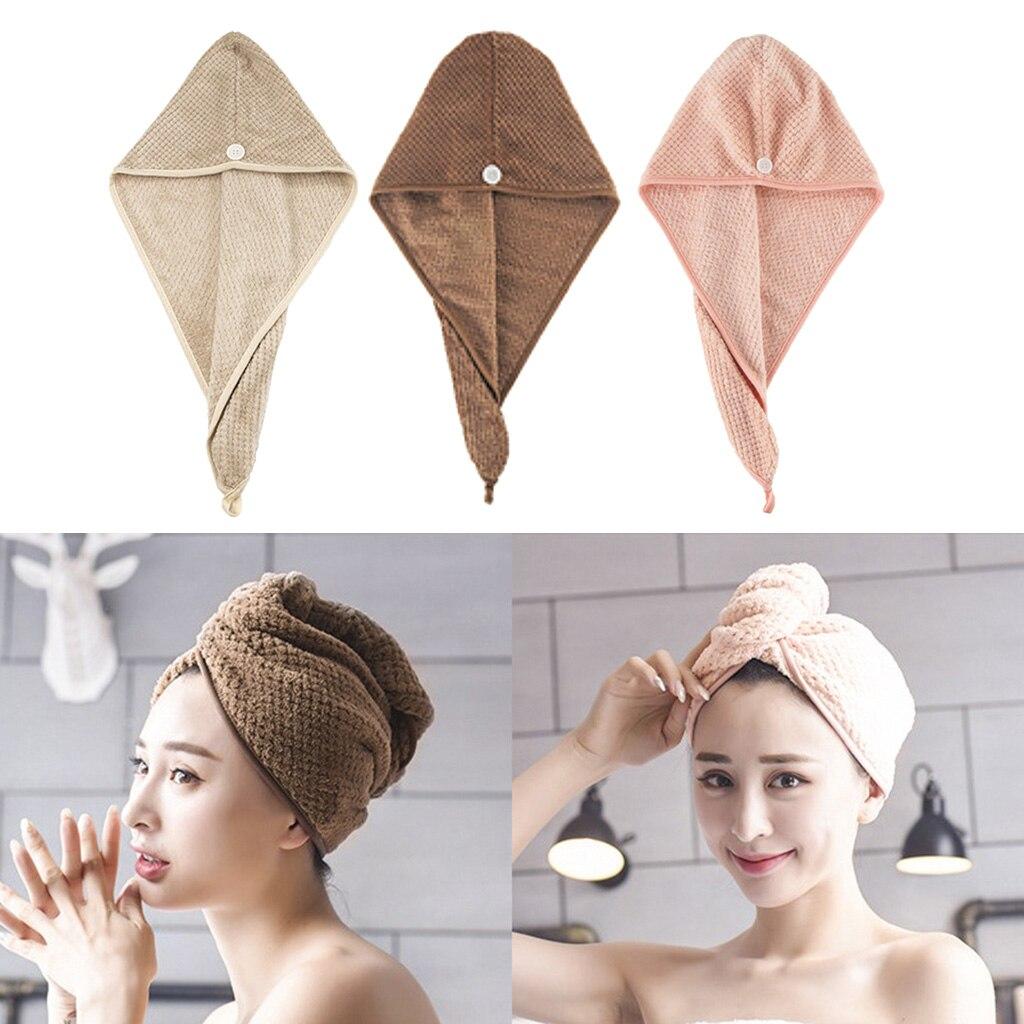 Полотенца для сушки волос из микрофибры, супервпитывающий тюрбан, мягкое полотенце для головы с защитой от завивки, длинные, толстые, тонкие...