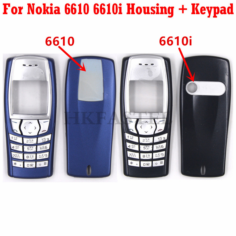 For Nokia 6610 6610i Mobile Phone New Front Face Housing With Back Battery Door Cover + Arabic Keypad