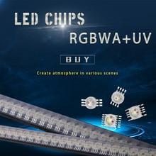 Led rgbwa + uv 6in1 para chips de iluminação led vermelho/verde/bule/branco/abmer/ultravioleta para festa de discoteca luz palco disco dj música festa