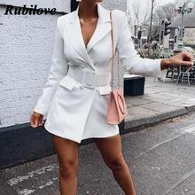 Rubilove 2019 European and American autumn winter fashion temperament street long-sleeved slim ladies blazer