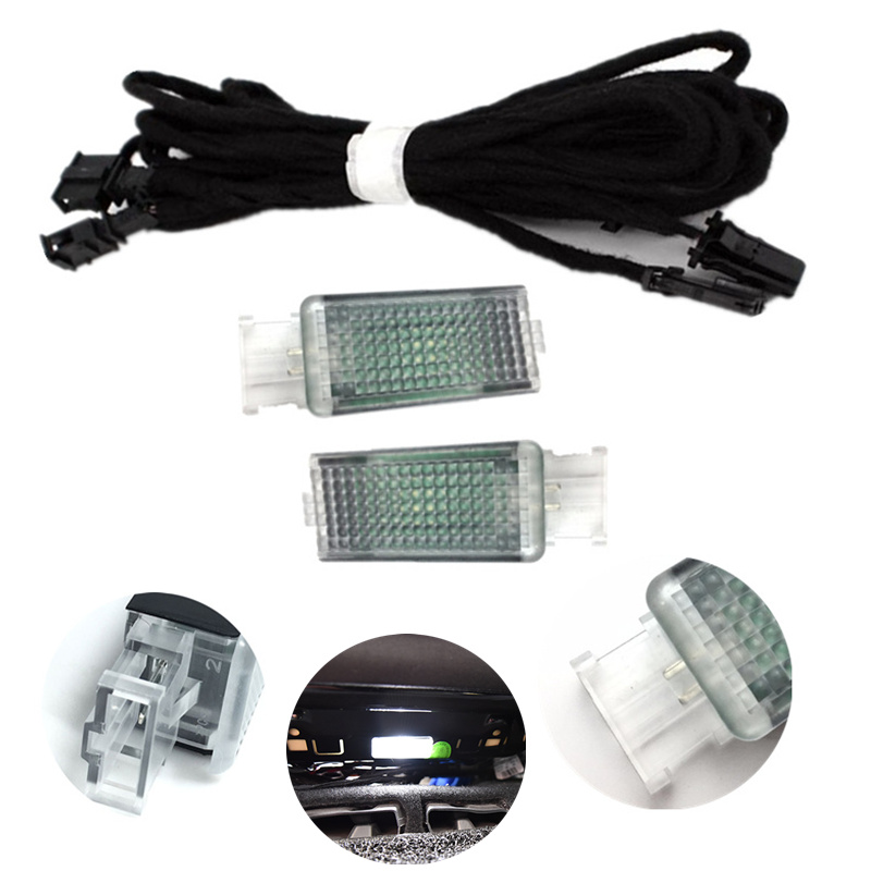 Car Rear <font><b>Led</b></font> Foot lamp <font><b>LED</b></font> Footwell Light Cable Wiring harness For VW Golf 7 MK7 VII Passat B8 5GG947409 5G0947409 5GG 947 409 image