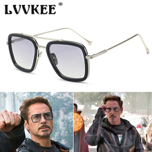 2019 Avengers Infinity War Tony Stark Flight Style Man Sunglasses Luxury Brand Iron Man 3 Glasses Square Vintage Men Sun Glasses the railway man vintage war exp