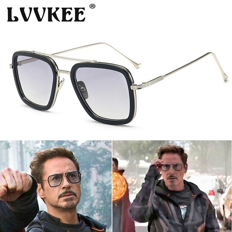 2019 Vingadores Infinito Guerra Homem Dos Óculos De Sol Marca de Luxo Homem De Ferro Tony Stark O Estilo De Vôo 3 Quadrado Óculos De Sol Dos Homens do Vintage óculos