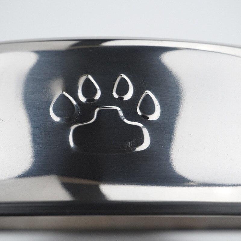 Cat and Dog Bowl Pet Food Basin Anti Slip Golden Wool Stainless Steel Cat Bowl Pet Bowl Dog Water Bottle Placemat Bowl  Cat Bowl