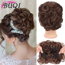 Hair-Extension Chignon Updo-Cover Curly Clip-In Women Comb BUQI